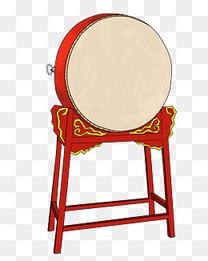 年会中国风乐鼓插画