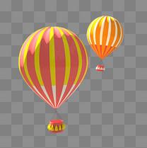 3D卡通糖果色热气球卡通立体C4D电商