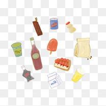 食物零食饮料元素PNG图片