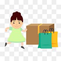 购物买商品消费顾客买家