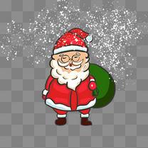 圣诞卡通手绘圣诞老人打包礼物