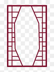 中国风复古暗红边框png下载