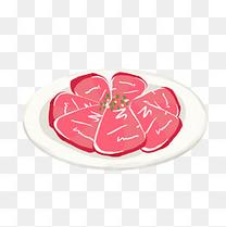 手绘聚餐食物卡通装饰素材